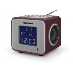 Telefunken TF-1575 (бордовый) - РадиоприемникРадиоприемники<br>Цифровой FM-тюнер (65 – 108 МГц), воспроизведения MP3-файлов с USB-накопителей, SD/MMC-карт, жидкокристаллический дисплей с подсветкой, эквалайзер с предустановленными режимами, цифровые часы, будильник, календарь, термометр, линейный вход.