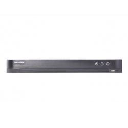 Hikvision DS-7216HUHI-K2 - Видеорегистратор системы видеонаблюденияВидеорегистраторы систем видеонаблюдения<br>Поддержка аналоговых, HD-TVI, AHD, CVI и IP-камер, 16 каналов, запись видео с разрешением до 5Мп HD-TVI6Мп IP, 2 SATA HDD до 6ТБ, 16/4 аудио входа/выхода, 16/1 тревожных входов/выходов, 1 RJ45 10M/100M1000М сетевых интерфейса.