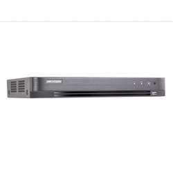 Hikvision DS-7204HUHI-K1/P - Видеорегистратор системы видеонаблюденияВидеорегистраторы систем видеонаблюдения<br>Поддержка аналоговых, HD-TVI, AHD, CVI и IP-камер, 4 канала, запись видео с разрешением до 5Мп HD-TVI6Мп IP, 1 SATA HDD до 6ТБ, 4/1 аудио входа/выхода, 4/1 тревожных входов/выходов, 1 RJ45 10M/100M сетевых интерфейса.
