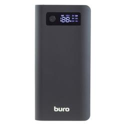 Buro RB-20000-LCD-QC3.0-I&amp;O - Внешний аккумуляторУниверсальные внешние аккумуляторы<br>Мобильный аккумулятор Buro RB-20000-LCD-QC3.0-Iamp;O, Li-Ion, 20000 мAч, 3A, 1.5А, 2xUSB + USB Type-C.