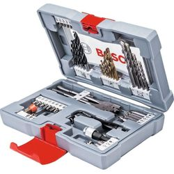 Набор оснастки Bosch Premium Set-49 (49 шт.) (2608P00233)  - Набор инструментовНаборы инструментов<br>Набор оснастки для шуруповертов и дрелей, в комплекте 49 предметов: сверла (по бетону, металлу и древесине) и биты.