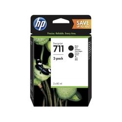 Картридж для HP DesignJet T120, T520 (P2V31A HP 711) (черный) (2 шт)  - Картридж для принтера, МФУ