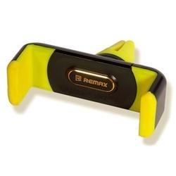 Автомобильный держатель Remax RM-C01 (черный/желтый)  - Автомобильный держатель для телефонаАвтомобильные держатели для мобильных телефонов<br>Автомобильный держатель для смартфонов с экраном от 3.5 до 6 дюймов, крепление на воздуховод, надежное крепление телефона, способ фиксации: вращающийся двойной зажим (360 градусов), все порты и разъемы в свободном доступе, материал: пластик.