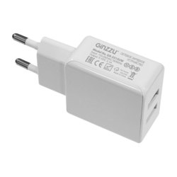 Сетевое зарядное устройство 2хUSB + кабель Lightning, 3.1А (Ginzzu GA-3311UW) (белый) - Сетевое зарядное устройство  - купить со скидкой