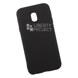 Силиконовый чехол для Samsung Galaxy J3 2017 (Liberty Project 0L-00034339) (черный) - Чехол для телефонаЧехлы для мобильных телефонов<br>Обеспечит надежную защиту Вашего мобильного устройства от повреждений, загрязнений и других нежелательных воздействий.