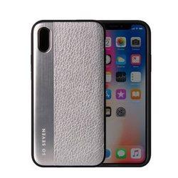 Чехол-накладка для Apple iPhone X (So Seven SVNCSMPU4IP8) (серебристый) - Чехол для телефонаЧехлы для мобильных телефонов<br>Чехол плотно облегает корпус и гарантирует надежную защиту от царапин и потертостей.