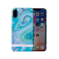 Чехол-накладка для Apple iPhone X (So Seven Carrare SVNCSCARRA3IP8) (голубой) - Чехол для телефонаЧехлы для мобильных телефонов<br>Чехол плотно облегает корпус и гарантирует надежную защиту от царапин и потертостей.
