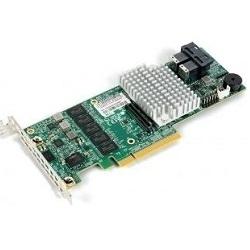 SuperMicro AOC-S3108L-H8iR - КонтроллерКонтроллеры<br>Тип оборудования: RAID контроллер, интерфейс: PCI-Express 8x, низкопрофильный, интерфейс подключения устройств: SAS/SATA, поддерживаемые уровни RAID: 0, 1, 5, 6, 10, 50, 60, процессор: LSI LSISAS3108, память 2048 МБ 1866 МГц DDR3.