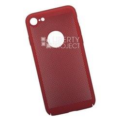 Пластиковый чехол-накладка для Apple iPhone 8 (Liberty Project 0L-00035238) (красный) - Чехол для телефонаЧехлы для мобильных телефонов<br>Обеспечит надежную защиту Вашего мобильного устройства от повреждений, загрязнений и других нежелательных воздействий.