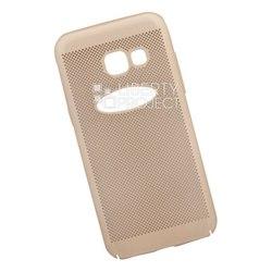 Пластиковый чехол-накладка для Samsung Galaxy A3 2017 (Liberty Project 0L-00035107) (золотистый) - Чехол для телефонаЧехлы для мобильных телефонов<br>Обеспечит надежную защиту Вашего мобильного устройства от повреждений, загрязнений и других нежелательных воздействий.