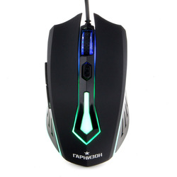 Гарнизон GM-710G (Алкес) - МышьМыши<br>Гарнизон GM-710G (Алкес) - компьютерная мышь, проводная, игровая, USB, чип Х1, софт тач, 800/1200/1600 dpi, 6 кнопок, код quot;Survariumquot;, подсветка, длина кабеля 1.4 м.