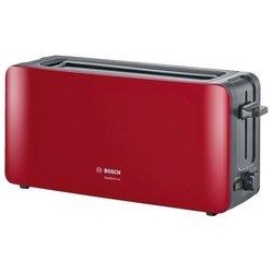 Bosch TAT6A004 (красный) - ТостерТостеры<br>Тостер, на 2 тоста, мощность 1090 Вт, механическое управление, функция размораживания, ненагревающийся корпус.