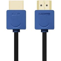 Кабель HDMI - HDMI 1.5м (Greenconnect GCR-HM530-1.5m) (синий, черный) - HDMI кабель, переходникHDMI кабели и переходники<br>Кабель с разъемами 2хHDMI, версия 1.4, бескислородная медь, AWG 32, экран, позолоченные контакты, 10.2 Гбит/с, 3D, 4K, Slim, длина 1.5 метра.