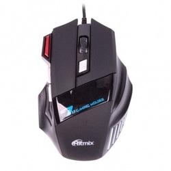 Ritmix ROM-345 USB (черный) - МышьМыши<br>Ritmix ROM-345 - проводная оптическая мышь, игровая, интерфейс: USB, материал: ABS-пластик, длина кабеля: 150 см, разрешение: 800/1200/1600/2400 dpi, 6 клавиш + колесо прокрутки, размеры: 130x86x39 мм.