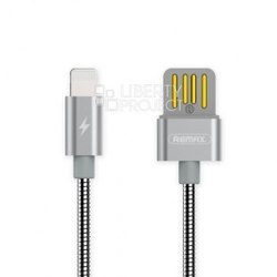 Кабель USB-Lightning 1м (Remax Tinned Copper Series Cable RC-080i) (серебристый) - КабелиUSB-, HDMI-кабели, переходники<br>Кабель для синхронизации и зарядки устройства, разъемы: USB-Lightning. Изготовлен из высококачественных материалов. Длина кабеля 1 м.