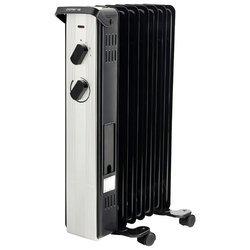 Polaris PRE A 1125 (черный) - ЭлектрообогревательОбогреватели и тепловые завесы<br>Масляный радиатор, мощность обогрева 2500/1500/1000 Вт, число секций: 11, регулировка температуры, термостат, колеса для перемещения.