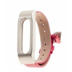 Ремешок для Xiaomi Mi Band (Xiaomi Leather Wristband tmp_587094) (красный/золотистый) - Ремешок для умных часовРемешки для умных часов<br>Ремешок разработан и произведен специального для данной модели. Конструкция надежно удерживает гаджет, оснащена качественной застежкой.