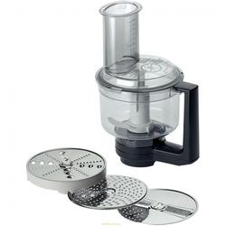 Насадка мультимиксер для Bosch MUM8 (Bosch MUZ8MM1) - Аксессуар для кухонного комбайнаАксессуары для кухонных комбайнов<br>В комплект входят: двусторонний диск-терка (крупная/мелкая), двусторонний диск-шиновка (крупная/мелкая), терка для сыра твердых сортов, шоколада, нож-крыльчатка.