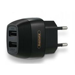 Универсальное сетевое зарядное устройство, адаптер 2хUSB, 2.1А (Remax Flinc Series RU-U29) (черный) - Сетевой адаптер 220v - USB, Прикуриватель