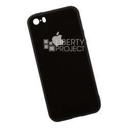 Пластиковый чехол-накладка для Apple iPhone 5, 5s, SE (0L-00035911) (черный) - Чехол для телефонаЧехлы для мобильных телефонов<br>Обеспечит надежную защиту Вашего мобильного устройства от повреждений, загрязнений и других нежелательных воздействий.