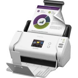 Brother ADS-2700W (ADS2700WTC1) (белый) - СканерСканеры<br>Протяжный сканер, формат A4, интерфейс USB 2.0, Ethernet, разрешение 600x600 dpi, двустороннее устройство автоподачи, датчик типа CIS.