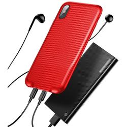 Чехол-накладка для Apple iPhone X (Baseus Audio WIAPIPHX-VI09) (красный) - Чехол для телефона