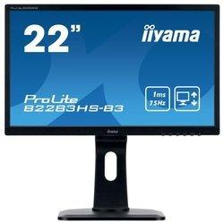 Iiyama ProLite B2283HS-3 - МониторМониторы<br>Iiyama ProLite B2283HS-3 - ЖК (TFT TN) 21.5quot;, широкоформатный, 1920x1080, LED-подсветка, 250 кд/м2, 1000:1, 1 мс, 170°/160°, стереоколонки, HDMI, DisplayPort, VGA