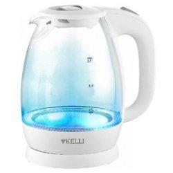 Kelli KL-1332 - ЭлектрочайникЭлектрочайники и термопоты<br>Kelli KL-1332 - чайник, объем 1.8 л, мощность 2200 Вт, подсветка, материал корпуса: пластик/стекло