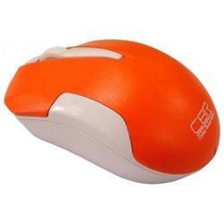 CBR CM 422 Orange USB (оранжевый) - МышьМыши<br>CBR CM 422 Orange USB - беспроводная мышь (радиоканал), для настольного компьютера, светодиодная, 3 клавиши , разрешение сенсора мыши 1600 dpi, интерфейс USB