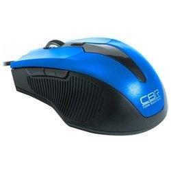 CBR CM 301 Blue USB (синий) - МышьМыши<br>CBR CM 301 Blue USB - проводная мышь, для настольного компьютера, светодиодная, 6 клавиш , разрешение сенсора мыши 2400 dpi, интерфейс USB