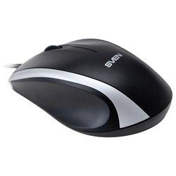 Sven RX-180 Black USB (черный) - МышьМыши<br>Sven RX-180 Black USB - проводная мышь, для настольного компьютера, светодиодная, 3 клавиши , разрешение сенсора мыши 800 dpi, интерфейс USB