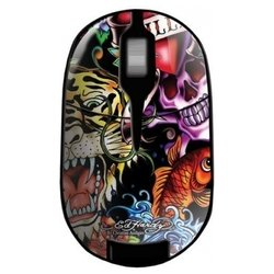 ed hardy wireless mouse full color black usb