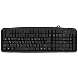 Oklick 100 M Standard Keyboard Black USB - КлавиатураКлавиатуры<br>Oklick 100 M Standard Keyboard Black USB - проводная клавиатура, для настольного компьютера, классическая конструкция, клавиш: 107, интерфейс USB