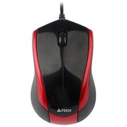 A4Tech N-400-2 Red-Black USB (черный/красный) - Мышь