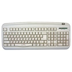 oklick 300 m office keyboard silver usb+ps/2