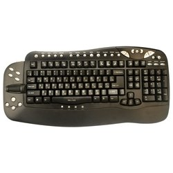 oklick 780l multimedia keyboard black usb+ps/2 (черный)