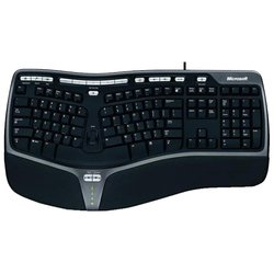 Microsoft Natural Ergonomic Keyboard 4000, USB (черный)