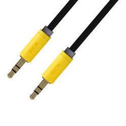 Кабель Jack 3.5 - Jack 3.5 (Greenconnect GCR-AVC8114-0.5m) (черный) - Кабель, разъем для акустической системыКабели и разъемы для акустических систем<br>GCR Кабель аудио 0.5m, нейлон, черный, желтая окантовка, ультрагибкий, 28 AWG, AM/AM, Premium, экран, стерео.