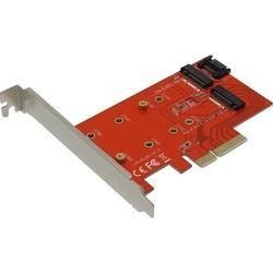 Espada PCIe2NGFF - КонтроллерКонтроллеры<br>Контроллер PCI-E x4, 2 порта M.2 NGFF.
