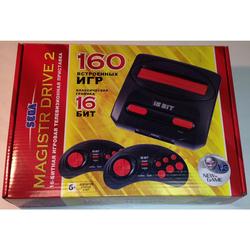 SEGA Magistr Drive 2 Little (160 встроенных игр) - Игровая приставкаИгровые приставки<br>Игровая приставка, 16 бит, 160 встроенных игр.