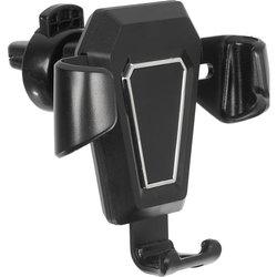 Универсальный автомобильный держатель (Wiiix HT-34V) (черный, серебристый) - Универсальный автомобильный держательУниверсальные автомобильные держатели для телефонов и планшетов<br>Подходит для мобильных телефонов, смартфонов, коммуникаторов, навигаторов и так далее.