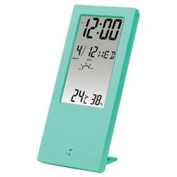 Hama TH-140 (мятный) - Цифровая метеостанцияЦифровые метеостанции<br>Цифровой термометр, индикатор погоды: солнечный, пасмурный, дождливый. Функция сигнала тревоги и повтора.
