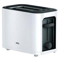 Braun HT 3000 (черно-белый) - ТостерТостеры<br>1000 Вт, количество тостов: 2, quot;холодный корпусquot;.