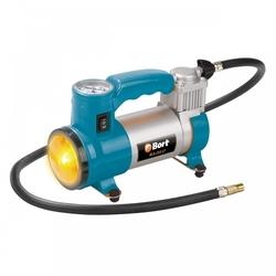 Bort BLK-252-Lt - КомпрессорКомпрессоры<br>Компрессор автомобильный, 25 л/мин, 7 бар, 12 В, 120 Вт, 3400 об/мин, 1.45 кг. В комплекте: Насадка-переходник (3 шт); сумка (1 шт); кабель для подключения к гнезду прикуривателя (1 шт); шланг (1 шт).
