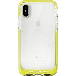 Чехол-накладка для Apple iPhone X (LAUT FLURO LAUT_IP8_FR_Y) (желтый кант) - Чехол для телефонаЧехлы для мобильных телефонов<br>Чехол плотно облегает корпус и гарантирует надежную защиту от царапин и потертостей.