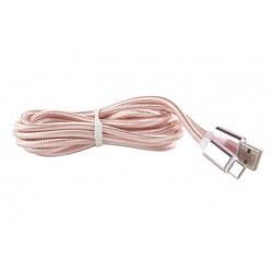 Дата-кабель USB - USB Type-C (Red Line YT000014157) (нейлоновая оплетка, розовый) - КабелиUSB-, HDMI-кабели, переходники<br>Дата-кабель с металлической оплеткой с коннекторами USB и USB Type-C предназначен для подключения устройств, оснащенных разъемом USB-C.