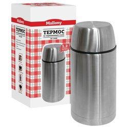 Mallony SE-1200B (1,2 л) - Термос, термокружкаТермосы и термокружки<br>Mallony SE-1200B (1,2 л) - классический термос 1.2 л, корпус: сталь, колба: сталь, 780 г.