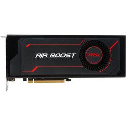 MSI Radeon RX Vega 56 1181Mhz PCI-E 3.0 8192Mb 800Mhz 2048bit HDMI DP Air Boost RTL (RX VEGA 56 AIR BOOST 8G OC) - ВидеокартаВидеокарты<br>Видеокарта Radeon RX Vega 56, 8192 Мб видеопамяти HBM2, PCI-E 3.0, частота ядра/памяти: 1181 (1520 МГц режиме BoostClock)/800 МГц, разъемы 1хHDMI, 3хDisplay Port.