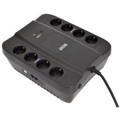 Powercom SPIDER SPD-650U - Источник бесперебойного питания, ИБПИсточники бесперебойного питания<br>Powercom SPIDER SPD-650U - интерактивный источник бесперебойного питания, 1-фазное входное напряжение, выходная мощность 650 ВА 390 Вт, 13 мин работы при половинной нагрузке, выходных разъемов: 8 (с питанием от батарей - 4), интерфейсы: USB, время зарядки 8 ч
