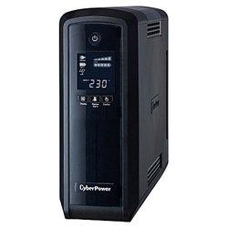 CyberPower CP900EPFC - Источник бесперебойного питания, ИБПИсточники бесперебойного питания<br>CyberPower CP900EPFC - интерактивный источник бесперебойного питания, 1-фазное входное напряжение, выходная мощность 900 ВА 540 Вт, выходных разъемов: 6 (с питанием от батарей - 3), интерфейсы: USB, время зарядки 10 ч, форма выходного сигнала: ступенчатая аппроксимация синусоиды